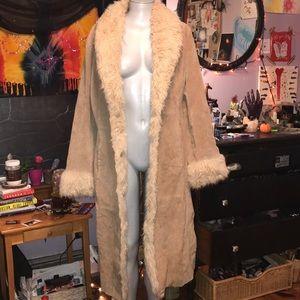 Penny lane fur trim coat size large